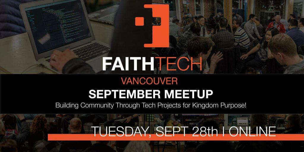 Faithtech Vancouver September Meetup!
